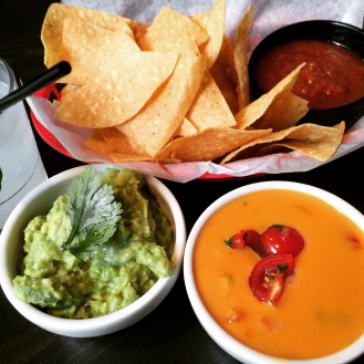 Guac and queso, El Original, NYC